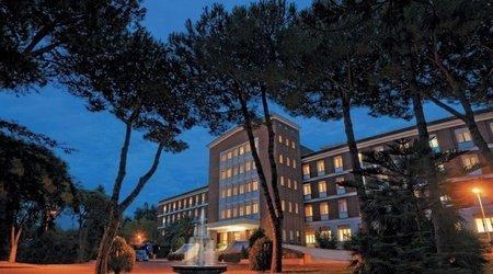 Fachada ele green park hotel pamphili roma, italia