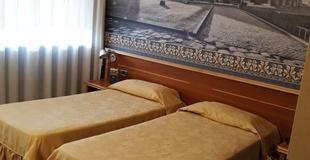 Habitación básica ele green park hotel pamphili roma, italia