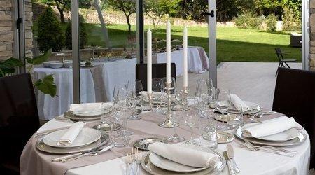 Restaurante oasis ele green park hotel pamphili roma, italia