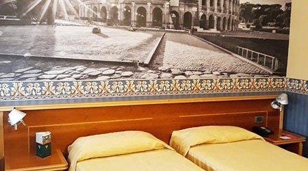 Habitación estándar ele green park hotel pamphili roma, italia